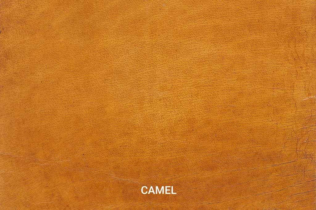 Kleurstaal Hand gepoetst buffelleer Camel