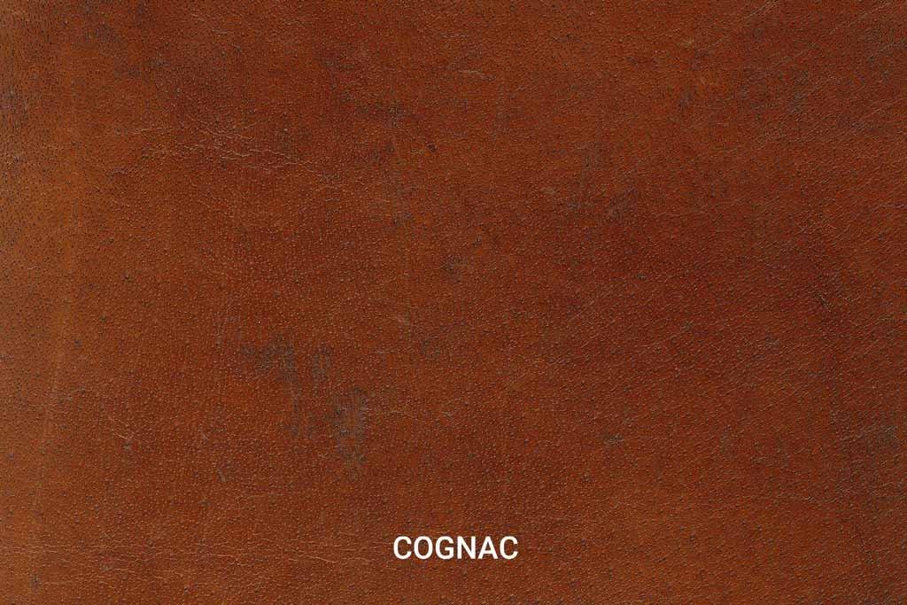 Kleurstaal Hand gepoetst buffelleer Cognac