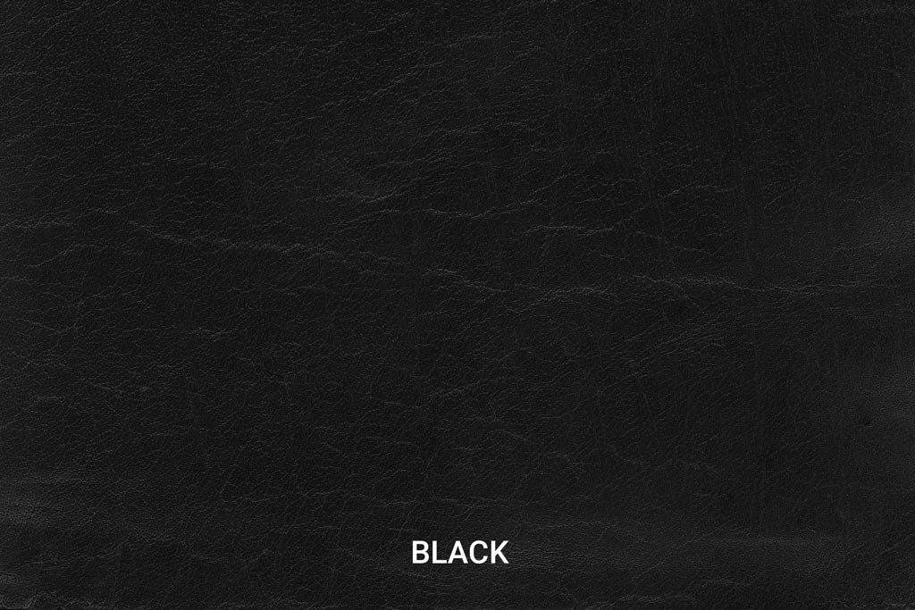 Kleurstaal Hand gepoetst buffelleer Black