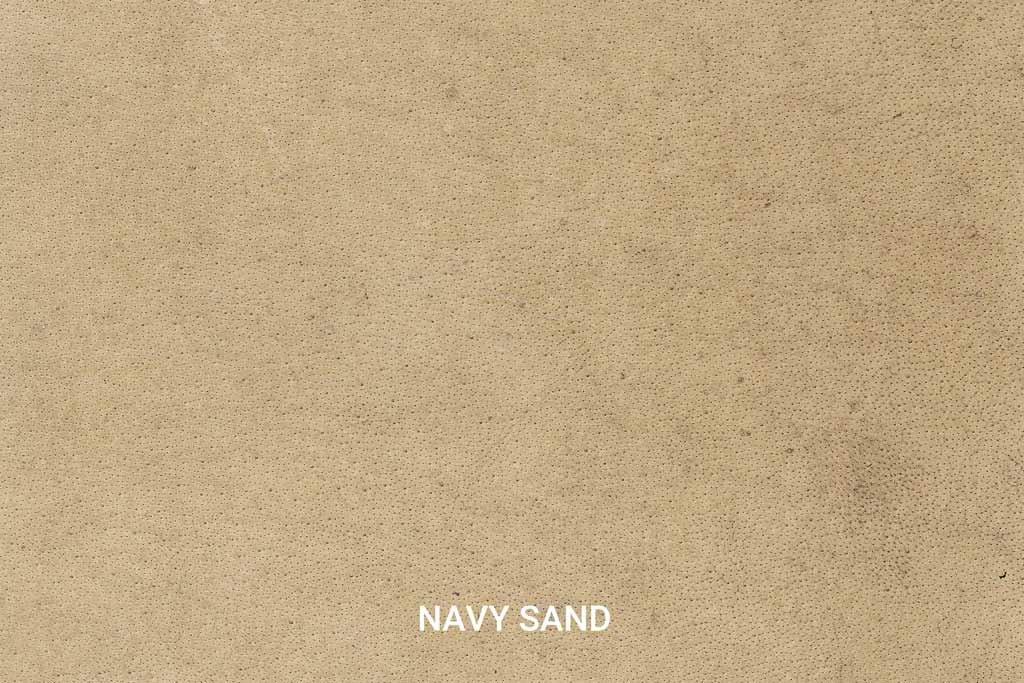 Kleurstaal Hand gepoetst buffelleer Navy Sand