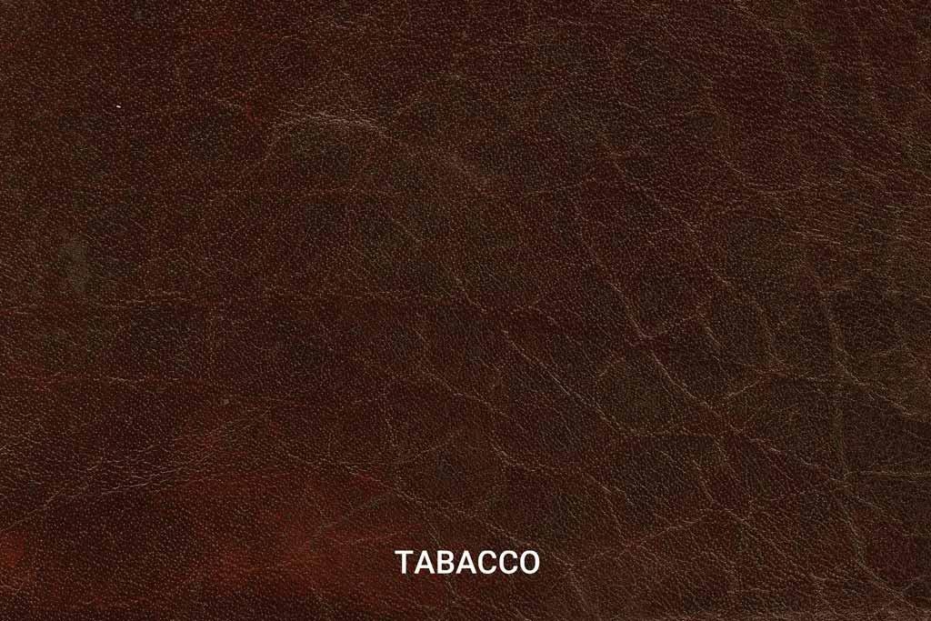 Kleurstaal Hand gepoetst buffelleer Tabacco