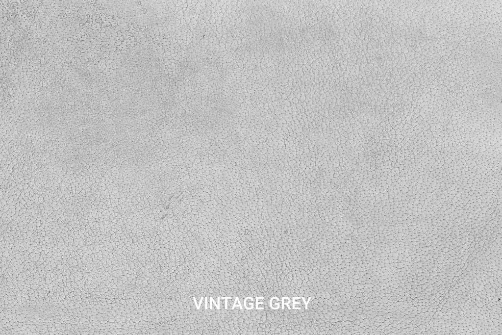 Kleurstaal Hand gepoetst buffelleer Vintage Grey