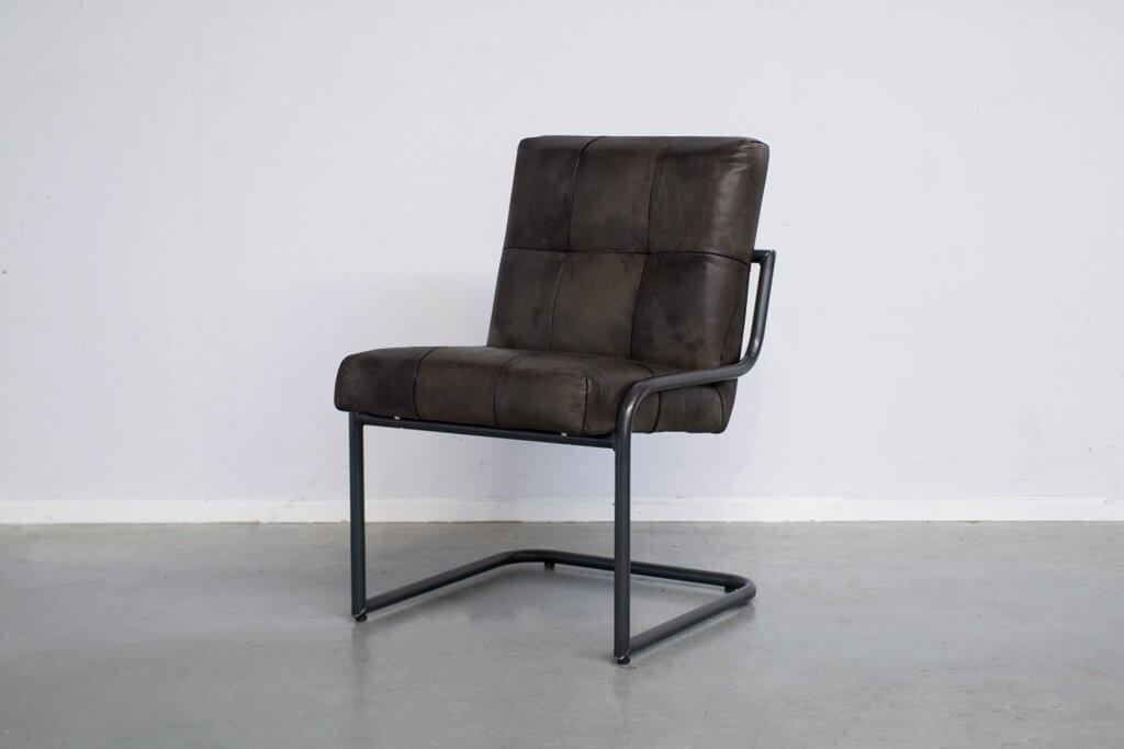 Industrial dining room chair Olli | industrial round