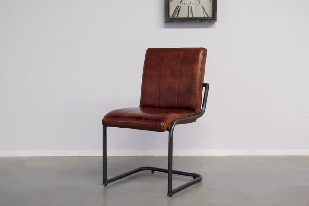 Industrial dining room chair Safira | industrial round