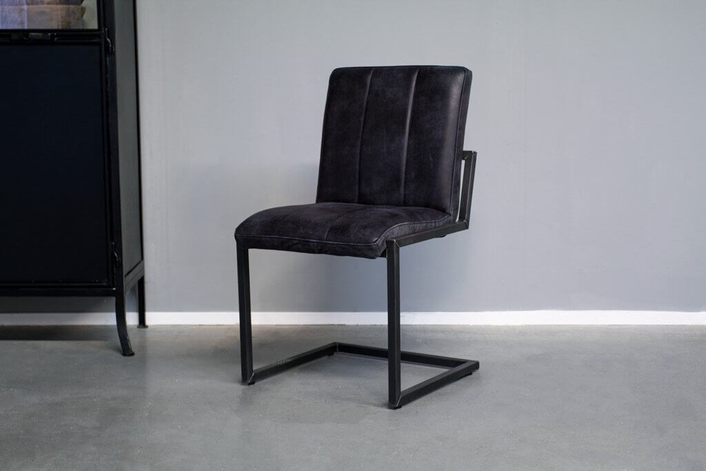 Industrial dining room chair Safira | industrial square